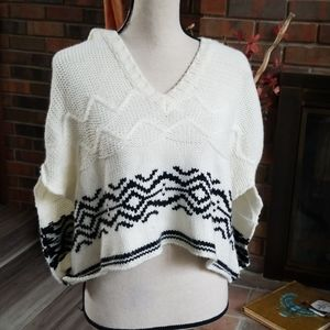 Charlotte Russe Acrylic Cropped Poncho with Hood